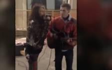 Steven Tyler sings duet with fan.Picture: Screengrab/CNN