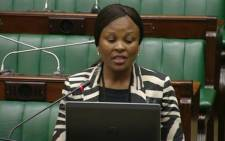 FILE: A screengrab of Busisiwe Mkhwebane being interviewed in Parliament. Picture: YouTube/SABC