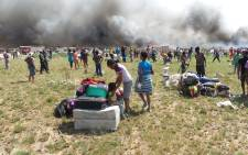 Officials say around 2,000 people are destitute after two separate fires in the informal settlement last week. Picture: iWN