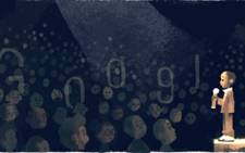A screengrab of the Google doodle of Nkosi Johnson.