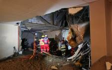 FILE: Emergency Services on the scene of a structural collapse at the Charlotte Maxeke Academic Hospital in Johannesburg on 2 March 2017. Picture: Christa Eybers/EWN.