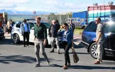 The Duke and Duchess of Sussex, Prince Harry and Meghan Markle arrive at Waves for Change at Monwabisi Beach in Cape Town on 25 September 2019. The couple visited various other initiatives before heading to the beach for a dance and meditation session with young surfers. Picture: Bertram Malgas/EWN
