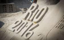 A sand sculpture on the beach in Rio de Janeiro, Brazil. Picture: Reinart Toerien.