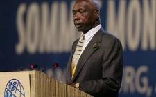 FILE: Former Kenyan President Daniel Arap Moi gives a speech on 2 September 2002 at the Sandton Convention Centre in Johannesburg. Picture: AFP