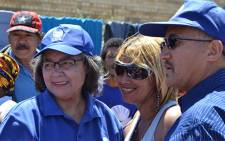 Cape Town Mayor Patricia de Lille at a voting station in Cape Town. EWN