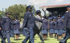Police Minister Bheki Cele was officially welcomed back to the police at a parade in Pretoria on Friday 9 March 2018. Picture: Barry Bateman/EWN