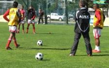 Ajax Cape Town during practice. Picture: EWN.
