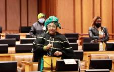 FILE: ANC's Pemmy Majodina. Picture: @ANCParliament/Twitter.