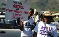 Hundreds of Treatment Action Campaign members took to the street of Cape Town to protest against the state of poor health system on 10 April 2014. Picture: Lauren Isaacs/EWN.