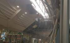 A section of the Somerset Mall roof collapsed on 6 February 2020. Picture: Supplied