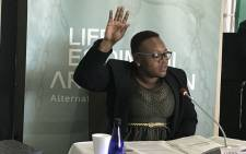 FILE: Daphney Ndhlovu, a social worker from Cullinan, testifies at the Life Esidimeni alternative dispute resolution process in Johannesburg on 16 October 2017. Picture: Masego Rahlaga/EWN