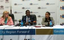Gauteng Education MEC Panyaza Lesufi briefs the media. Picture: @EducationGP/Twitter