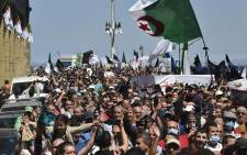 Algerians shout slogans during an anti-government demonstration in the capital Algiers on May 7, 2021. Picture: Ryad Kramdi / AFP.