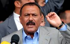 This file photo taken on 18 September 2006 shows former Yemeni president Ali Abdullah Saleh addressing an electoral rally in Sanaa. Picture: AFP