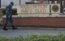 FILE: A shooter had not been found as police swarmed the Navy Yard, according to a local CBS radio station, amid heightened security concerns ahead of the US July Fourth holiday weekend. Picture: AFP.