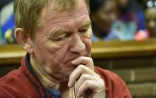 FILE: Peter Peter Frederiksen at the Bloemfontein Magistrates Court on 4 November 2015. Picture: AFP.