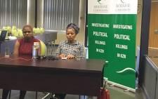 Jabulile Msiya and Nonstikelelo Mafa at the Moerane Commission. Picture: Ziyanda Ngcobo/EWN.