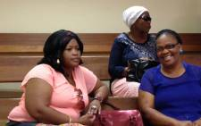 Andries Tatane's widow, Rose (L), as pictured in the Ficksburg Regional Court in the Free State on 18 March 2013. Picture: Andrea van Wyk/EWN