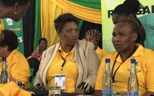 ANCWL president Angie Motshekga and ANCWL secretary general Sisi Tolashe at the league's National Policy Conference on 12 December 2014. Picture: Twitter via @MyANC.
