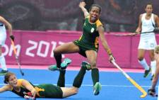 South African women's hockey team takes on New Zealand at the London Olympics. Picture: SA Sports Picture Agency.