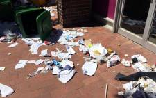 FILE: The aftermath of protest action at the University of the Western Cape. Picture: Natalie Malgas/EWN.