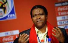 Joseph Shabalala, the founder of Ladysmith Black Mambazo, at a press conference on 10 July 2010 at Soccer City Stadium in Soweto on the eve of the 2010 Football World Cup final between the Netherlands and Spain. Picture: AFP