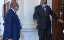 President Cyril Ramaphosa met with Lesotho's new Prime Minister Moeketsi Majoro in Pretoria on Friday, 12 June 2020, to discuss relations between the two countries. Picture: Nthakoana Ngatane/EWN