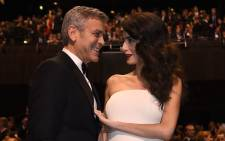 George and Amal Clooney. Picture: AFP
