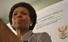 Minister of International Relations, Maite Nkoana-Mashabane. Picture: Sapa.