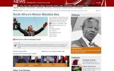 Madiba frontpage BBC