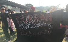 Women take part in the #TotalShutDown march in Durban on 1 August 2018. Picture: Ziyanda Ngcobo/EWN