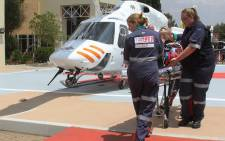 A toddler was airlifted on Tuesday 15 December2015 after he poured hot water on himself. Picture: Netcare911.