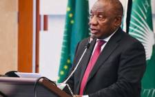 President Cyril Ramaphosa at the 33rd AU Summit in Addis Ababa. Picture: Twitter/Presidency