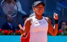 Naomi Osaka celebrates a win at the Madrid Open on 5 May 2019. Picture: @MutuaMadridOpen/Twitter