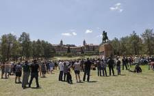 A day of protest and prayer against farm murders and attacks at the Union Buildings lawns in Pretoria on 10 October 2020. Picture: AFP.