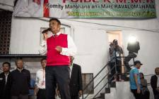 FILE: Marc Ravalomanana (L), former Madagascan president and presidential candidate, speaks to supporters at his headquarters in Antananarivo on 7 November 2018, after the first round of Madagascar's presidential election. Picture: AFP