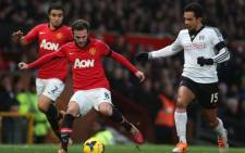 Manchester United's Juan Mata passes the ball during the English Premier League match against Fulham on 9 February 2014. Picture: Facebook.