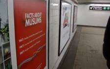 Humorous ads for a documentary film that aims to promote understanding and tolerance of Muslims went up in New York subways on 7 March 2016. Picture: Screengrab.