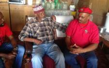 EFF chair Dali Mpofu in KwaNobuhle campaigning on the eve of the elections. Rahima Essop/EWN.