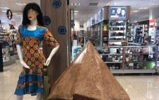 This Dis-Chem mannequin with blackface caused an uproar on social media. Picture: T_Lethu/Twitter.