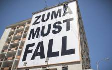 FILE: A big billboard at the top of Long Street in Cape Town reads: Zuma Must Fall. Picture: Thomas Holder/EWN.