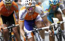 Spain's Alberto Contador (R) speeds in 15th stage of the 2010 Tour de France. Picture: AFP