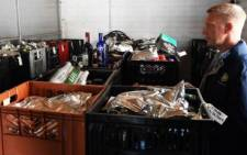 FILE: Confiscated alcohol. Picture: EWN