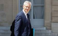 French Economy Minister Bruno Le Maire leaves after a weekly cabinet meeting at the Elysee palace in Paris on 27 June, 2018. Picture: AFP