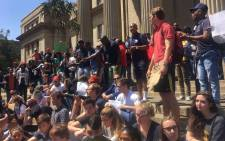 #TakeBackWits students gather at Wits University's Great Hall. Picture: EWN