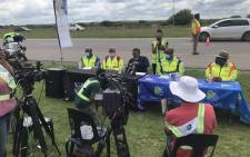 Transport Minister Fikile Mbalula on 22 December 2020 released the 2020 festive season preliminary road statistics. Picture: @TrafficRTMC/Twitter