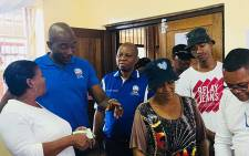 DA leader Maimane and Johannesburg Mayor Herman Mashaba visited various voting stations in Gauteng on 10 March 2018 to encourage residents to register to vote. Picture: @Our_DA/Twitter