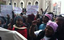 Protestors from informal settlements in Cape Town march against poor sanitation. Picture: Lauren Isaacs/EWN