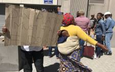 Residents from Khayelitsha, Philippi East, Kraaifontein and Hout Bay protesting out Cape Town's Civic Centre on 31 January 19. Picture: Lauren Isaacs/EWN