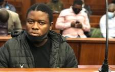 Bonginkosi Khanyile appears in the Durban Magistrates Court on 23 August 2021. Picture: Nhlanhla Mabaso/Eyewitness News